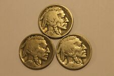 New ListingLot x 3 - 1935 P, 1929 P, 1925 P, Buffalo Nickel Un-Treated 5 Cent $.05 5C Coin