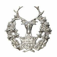 Gordon Cap Badge Military Band Gordon Regiment Highlanders Metal Brass/Chrome