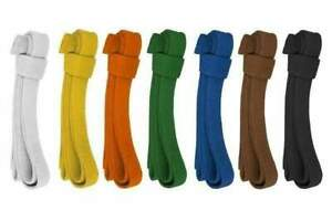 Karate Coloured Belts 100% Cotton 9 Stitches