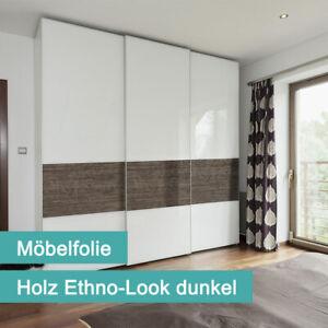 Tecosmart Möbelfolie PVC-frei | Holz Ethno-Look dunkel | 620mm x 2300mm