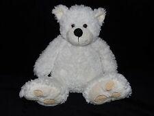 TESCO TEDDY BEAR SOFT TOY CREAM WHITE CHUBBY COMFORTER DOUDOU