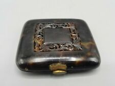 OLD TORTOISE SHELL-Horn card/CIGARETTE CASE/box NEEDS REPAIR/RESTORATION