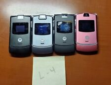 Cell Phone Lot Of 4 Motorola v3 Razr As Is For Parts / Repair Only Untested L-4
