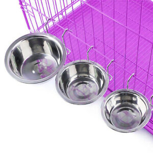 Stainless Steel Elevated Pet Dog Raised Bowl Stand Water Food Feeder Dish S M L