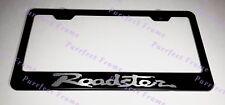 Mazda ROADSTER MX-5 Black Stainless Steel License Plate Frame W/ Bolt Caps