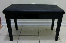 """29.5"""" Padded Storage Piano Bench Double Seating. Faux Leather. Black colour"""