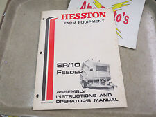 Hesston Farm Equipment SP / 10 Feeder Assembly Instructions & Operator's Manual