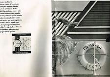 PUBLICITE  1977   VAN CLEEF & ARPELS  COLLECTION MONTRES (2 pages)