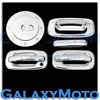 99-06 Chevy Silverado Triple Chrome 2 Door handle w/o PSG KH+Tailgate+Gas Cover