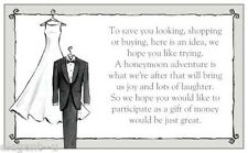 ~*~10 x Bride & Groom Wedding Wishing Well Card to Add to Invite~*~
