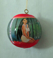 Disney Pocahontas Meeko Percy Red Satin Ball Xmas Ornament Box Free USA Ship