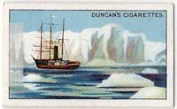 """""""Terra Nova"""" Whaler Polar Expedition Ship 1910 Robert Scott  1920s Trade Ad Card"""