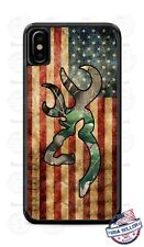 Deer Hunting American Flag Camo Phone Case for iPhone X Max 8 PLUS Samsung etc