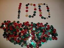 Lots of 100 Buttons,New, Assorted Mixed Colored And Sizes