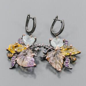 Handmade SET Ametrine Earrings Silver 925 Sterling   /E57448