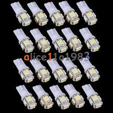 10PCS T10 5050 W5W 5 SMD 194 168 LED White Car Side Wedge Tail Light Lamp 12X30m