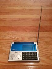 Ultronic Portable WS-9 LCD World Travel Alarm Clock Radio W/ Calculator Tested