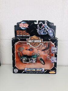 Harley Davidson Custom Shop Metal Maxx Die Cast Bike Dyna Low Rider 1:20 READ