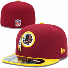 Washington Redskins NFL Football Cap New Era 59 FIFTY size 7 Authentic Cappuccio