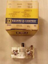 New Square D 9001 Ka-2 Series G Contact Block 1 N.O. Heavy Duty 88001 Bl