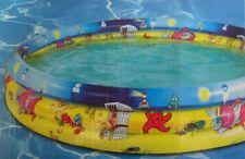 Planschbecken Pool Schwimmbecken für Kinder mit bunten Strandbildern 140 cm12253