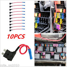 10x Medium Middle Standard ATO ATC Blade Fuse TAP Dual Circuit Adapter Auto CAR