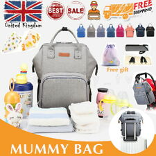 Large Mummy Baby Bag Nappy Changing Backpack Diaper Maternity Travel Portable UK
