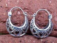 Echter Edelmetall-Ohrschmuck ohne Steine aus Sterlingsilber mit Schnappverschluss für Damen