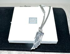 """NWT $435 KING BABY Med Archetype Wing Pendant Necklace Sterling Silver 24"""" Chain"""