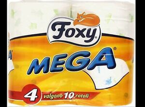 FOXY MEGA CARTA IGIENICA 4 ROTOLONI 2 VELI DECORATO