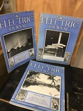 The Electric Journal Magazine March, April, July 1933 Issues.