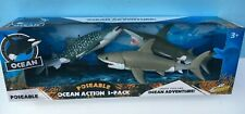 Ocean Action SHARK 3-Pack MIP - Great White, Hammerhead, & Whale Shark