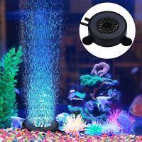 12 LED Light Lamp Air Stone Submersible Bubble for Aquarium Fish Tank Pump Decor