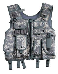 SWAT Weste Einsatzweste mit Holster Security Paintball ACU-Tarn  M L XL XXL 2XL