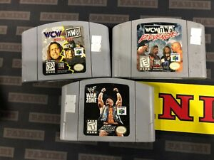 WWE WCW NWO WWF Nintendo 64 N64 Video Game Lot of 3 Different Games