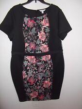 BOUTIQUE - WOMEN - DRESS - BLACK FLORAL - SIZE 2X       (AC-26-292x2)