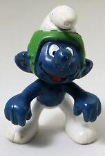 GO-CART SUPER SMURFS ACTION FIGURE ONLY 1981 #40218 Schleich Peyo Green Helmet