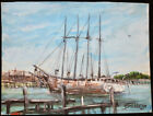 Original 1974 Listed Maine Artist Bill Paxton Wiscasset Maine Nautical Painting