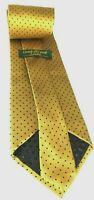 Crooks and Creed London, Men's Tie Gold/Black Polka Dots Tie,  Made In USA