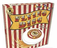Flying Disc Frisbee - Vintage Red & White Retro Gift In A Box NEW