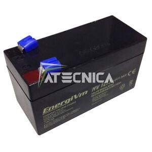 Batteria ricaricabile al piombo 12 12V 1 1,3Ah batterie x sicurezza automazione