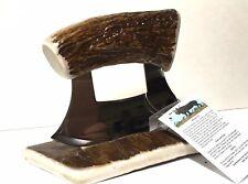 Alaska Natural Moose Antler Ulu Knife & Antler Stand