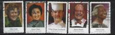 US Sc# 4922-4926 CELEBRITY CHEFS SET of 5 USED OFF PAPER SOUND