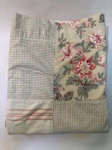 Nautica Pink Sands Patchwork Shower Curtain 100% Cotton