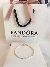 New Genuine Pandora 20cm Essence Silver Bracelet #596000 RRP£49