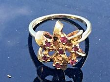 Vintage Estate Ring: Ruby with accents 14k Gold Ring *MAKE OFFER*