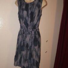 Women's GAP Belted Blue Sleeveless Dress