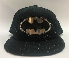 DC Comics Batman Metal Badge Logo Licensed Authentic Black Snapback Baseball Cap