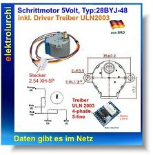 MOTORE passo passo, stepper motor typ:28byj-48, 5 Volt, 4 pin, incl. driver uln2003