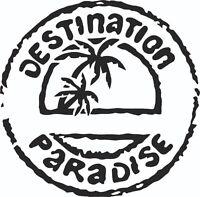 CAMPER VAN CARAVAN MOTORHOME VINYL GRAPHICS STICKERS DECALS Destination Paradise
